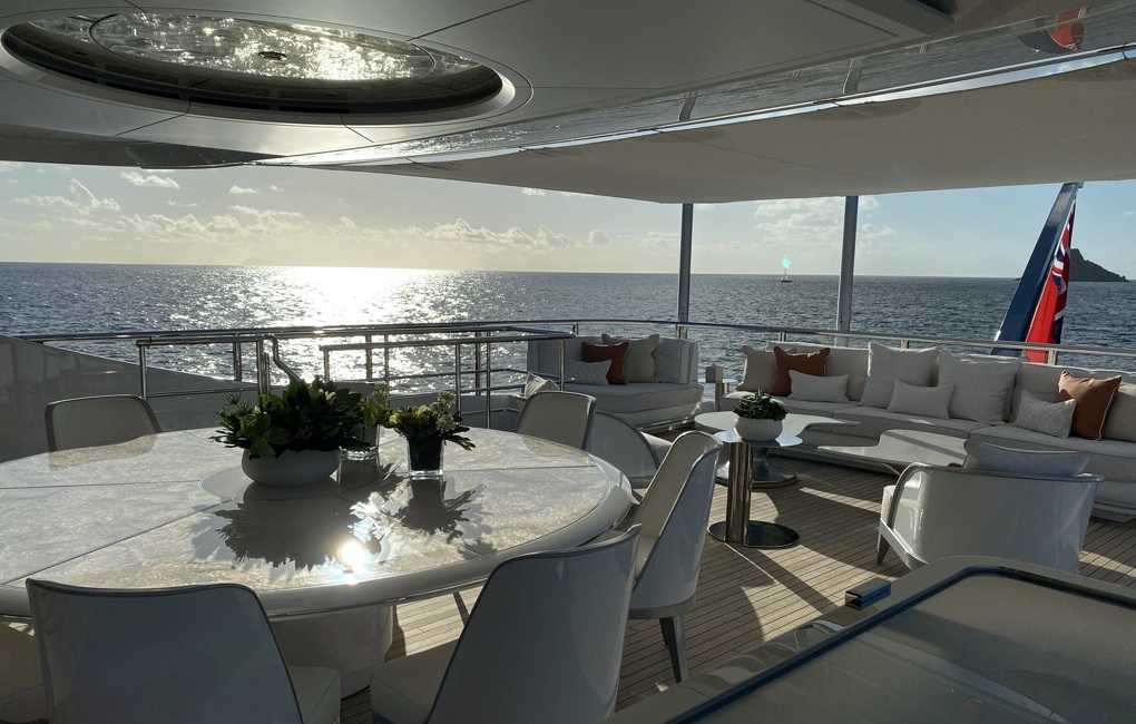 On deck of a private yacht