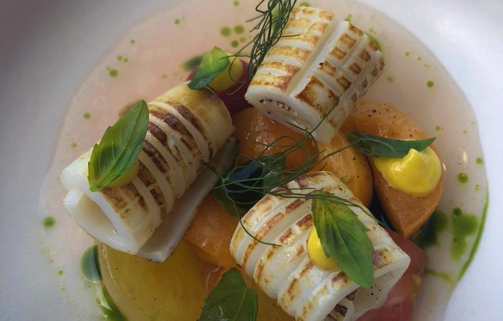 Plated calamari