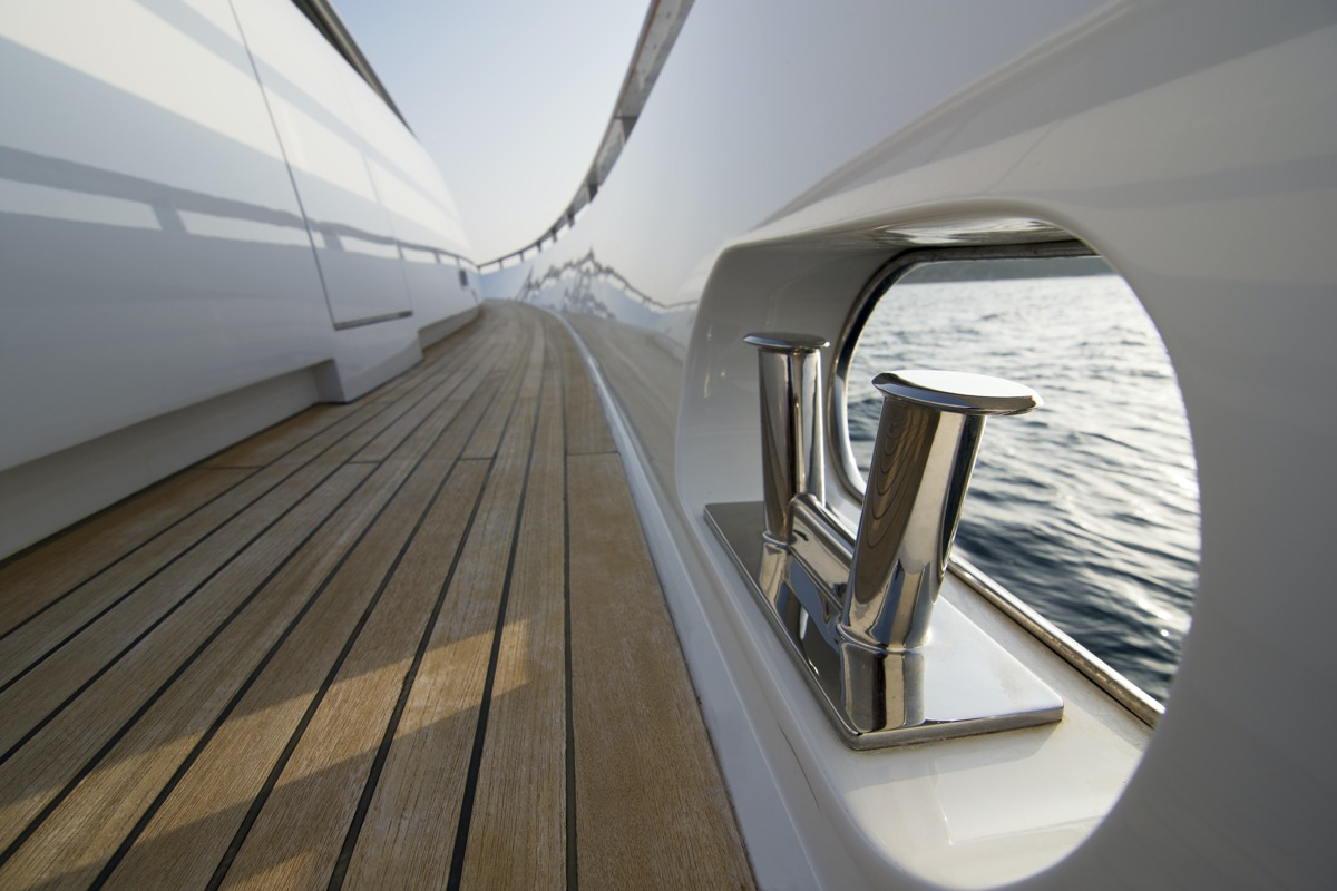 Deck of a private yacht